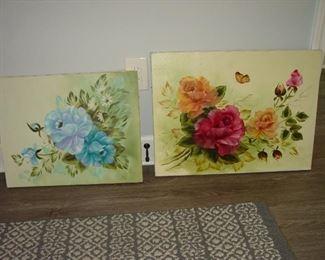 Original oil paintings.