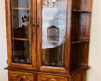 7.   American traditional china cabinet  • 78high 52wide 16deep  • $295