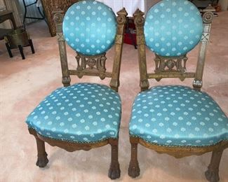 Antique Eastlake Parlor Chairs