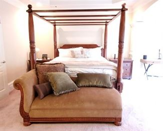 Chaise lounge king size canopy bed