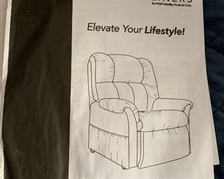 Dark Grey Vita Leather Lift Chair