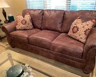 Nice leather/suede sofa