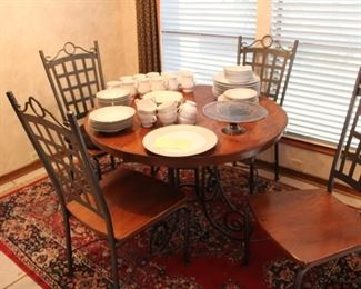 Great Kitchen Table and Chairs. Note the Carpet under the table, also for sale.
