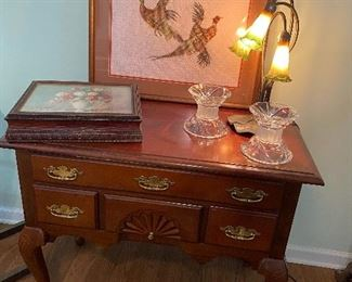 Occasional tables, and Crosstitch