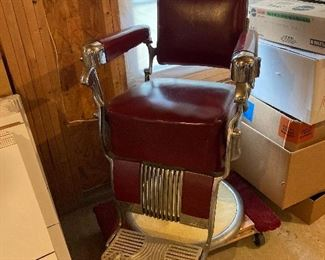 Vintage Barber Chair (Belmont) (Obtained in Chicago)
