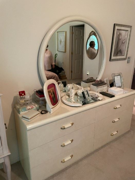 . . . this is the first piece of a great white-shellacked bedroom set