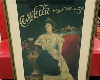 original early 1900's coca cola advertising