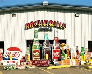 original soda pop sign collection - Oct 2nd auction