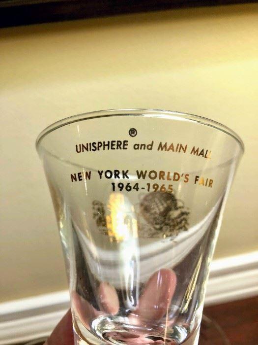 1964-1965 New York World's Fair Glasses