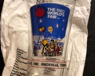 1982 World's Fair McDonalds Glass w/ original bag