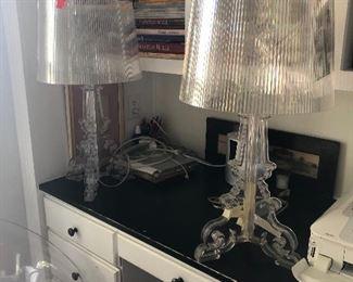 Mid Century Lucite Lamps