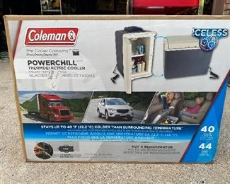 Coleman power chill cooler
