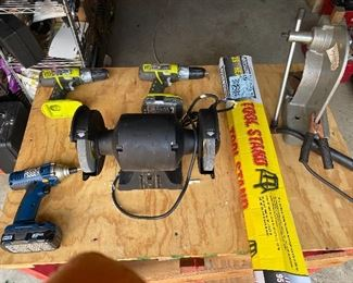 Drill, sander, tool stand