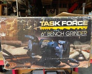 Task Force bench grinder