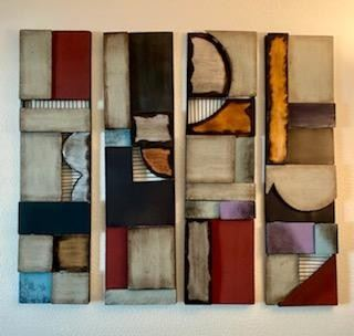 "Modular metal 4 piece ""design to your taste"" art"