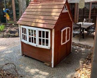 Wood outside play house