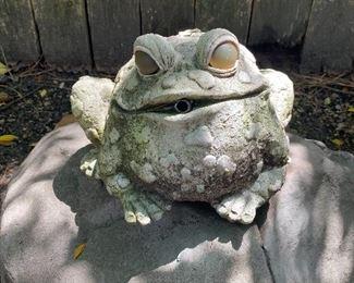 Frog w/water spout