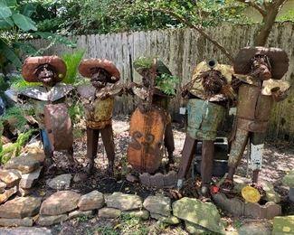 Mariachi band - 5 piece metal yard art