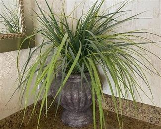 Faux palm plant w/planter