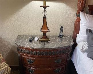 Marble top 3 drawer bedside table *we have two