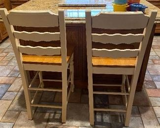 Bar stools - back side