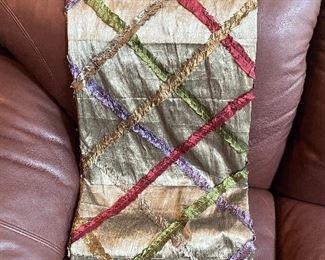 Silk decorative throw