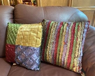 Silk decorative pillows