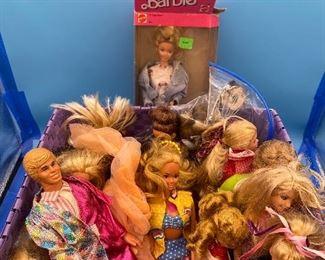 Basket of Barbies