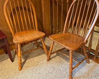 Oak wood slat chairs *we have 4