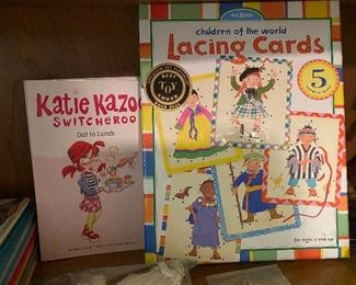 Katie Kazoo Switcheroo book and Lacing Cards