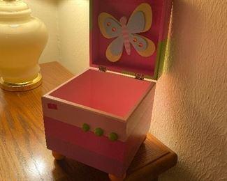 Butterfly wooden music box