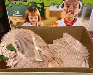 Science lab set & baby christening hats