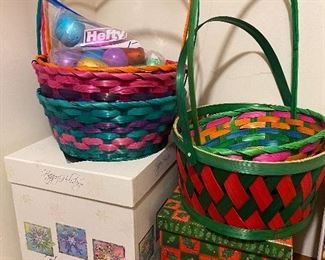 Gift boxes and Easter baskets