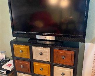 "Vizio flat screen TV  - NOT sold  Fun & ""mod"" 9 drawer dressor = SOLD"