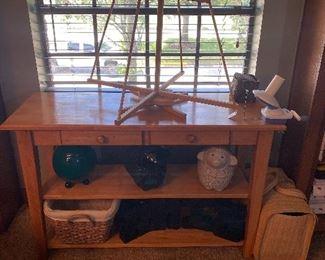 Wood 2 drawer 2 shelf ~ side or sofa table