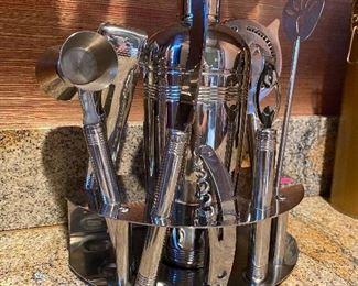 Stainless bar utensils