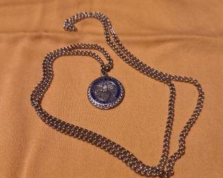 D.A.R award pendant w/chain