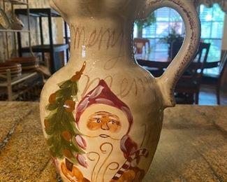 Christmas pitcher