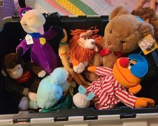 Variety of stuffed animals
