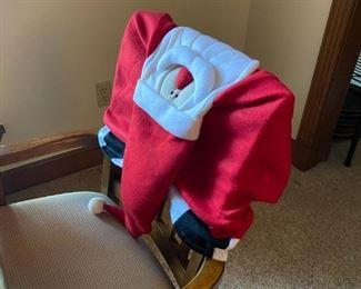 Santa chair back cover
