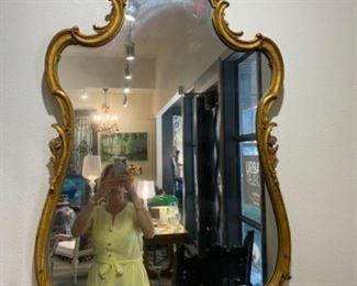 """#5 - $250 Gold gilt mirror Louis XV style  28""""W x 45""""T"""
