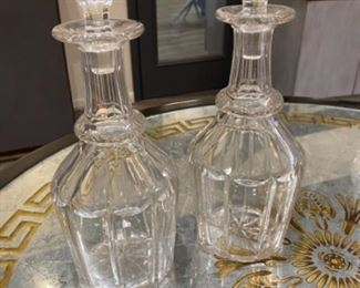 Pair $120 decanters sold as a pair