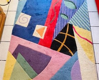 $125 Madadi Geometric wool carpet    •  4' x 7.5'