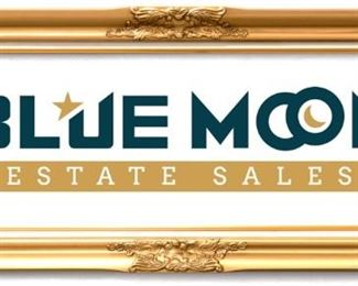 bluemoon logo goldframe
