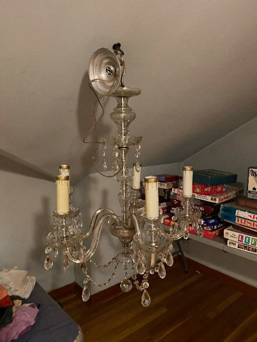 Working vintage chandelier