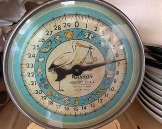 Vintage Hanson baby scale