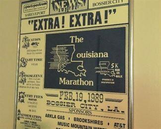 Vintage marathon poster