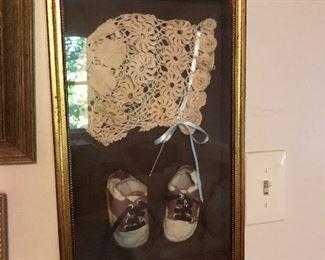 Antique bonnet and vintage shoes