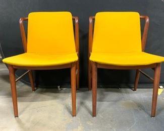 Pair Vintage Danish MCM Chairs