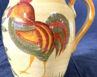 Hand Painted Italian Ceramic Jug